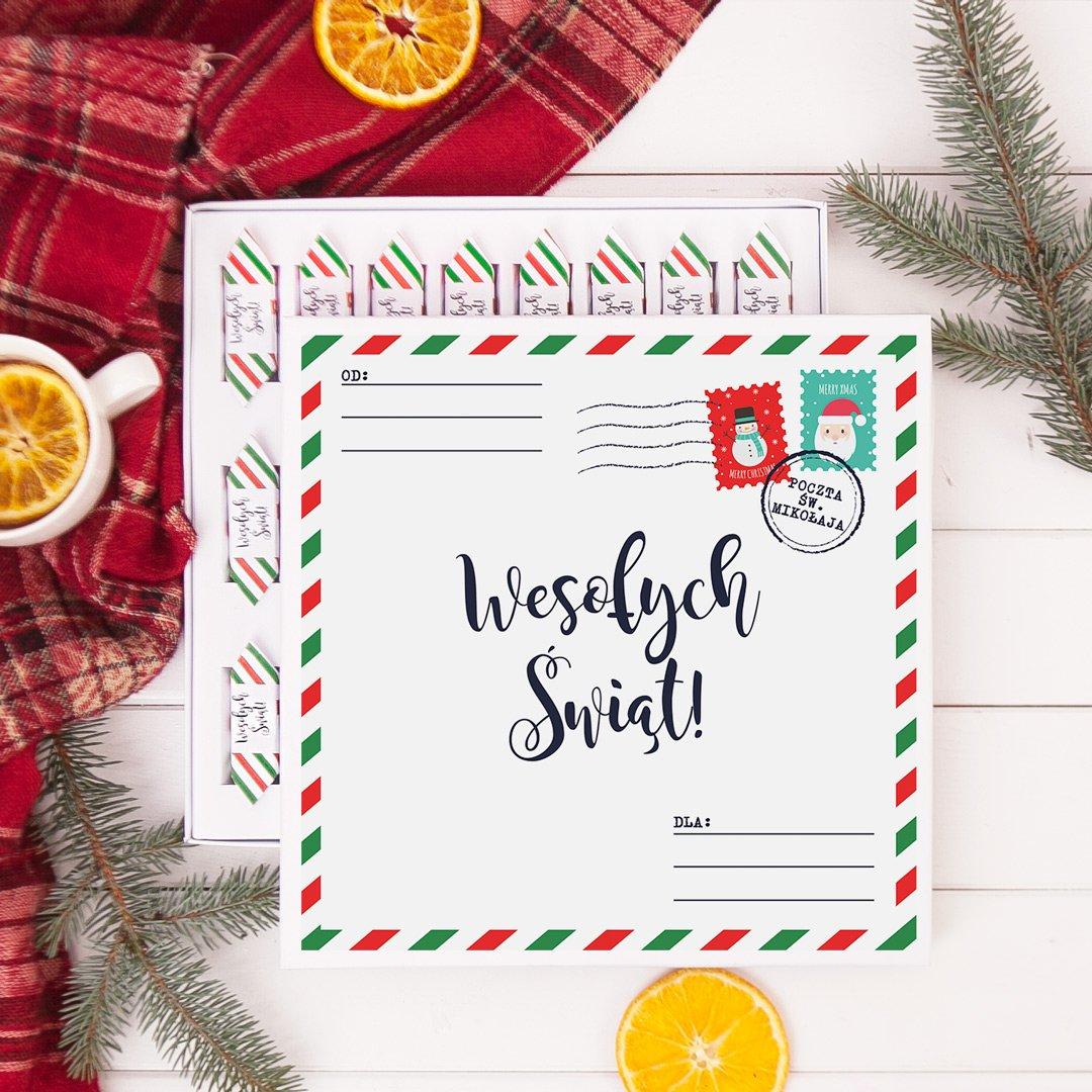 Zdjęcie slidera - BOMBONIERKA z krówkami Poczta Świętego Mikołaja na Boże Narodzenie