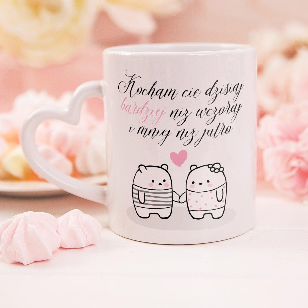 Zdjęcie w galerii - KUBEK prezent Walentynkowe Misie personalizowany
