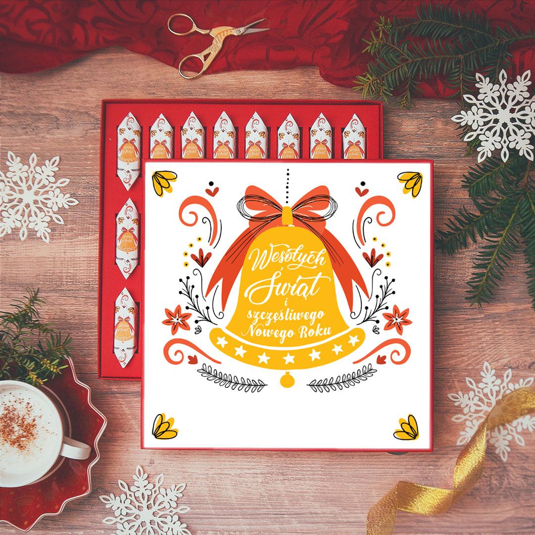Zdjęcie slidera - BOMBONIERKA z krówkami świąteczna Dzwoneczek