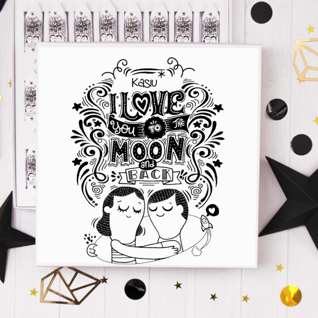 Zdjęcie w galerii - BOMBONIERKA z krówkami Love to the Moon