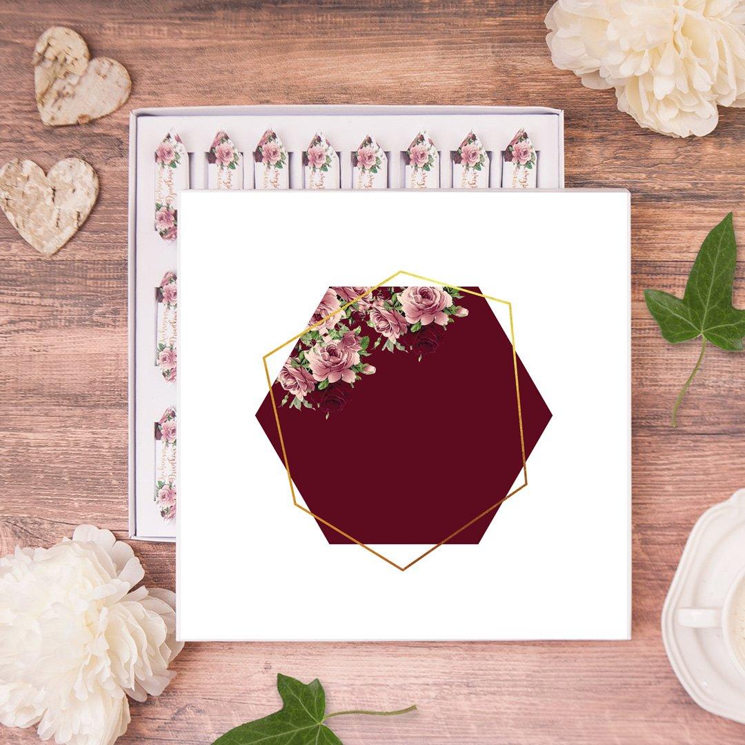 Zdjęcie slidera - BOMBONIERKA z krówkami Dla Dziadka Róże Marsala