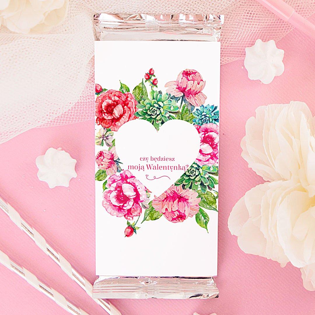 Zdjęcie slidera - CZEKOLADA Walentynka Pink Flowers