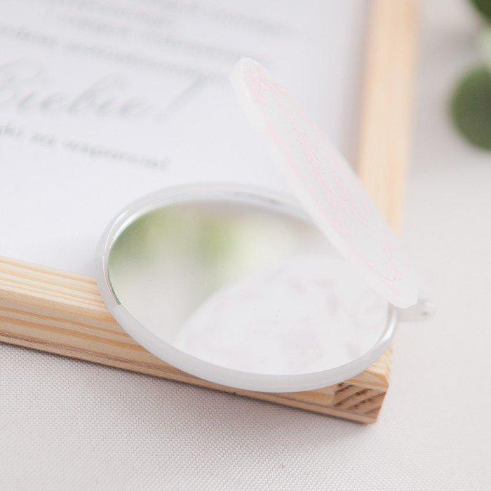 Zdjęcie w galerii - PREZENT dla Świadkowej w drewnianym pudełku Lusterko Klasyczne Srebro