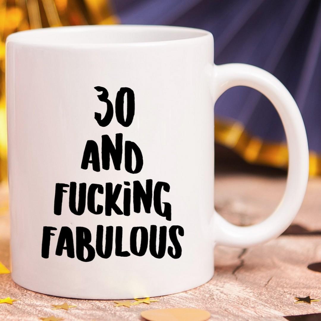 Zdjęcie w galerii - KUBEK śmieszny prezent dla znajomego na urodziny Fucking Fabulous personalizowany