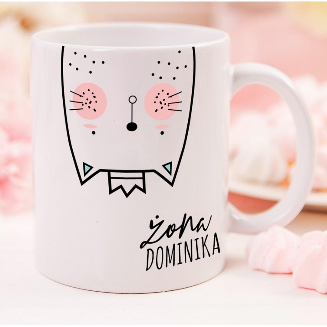 Zdjęcie w galerii - KUBEK z kotkiem dla żony Zakochana Kotka personalizowany