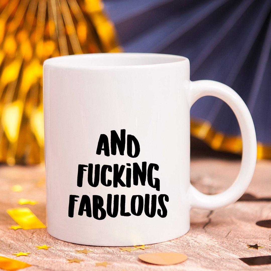 Zdjęcie slidera - KUBEK śmieszny prezent dla znajomego na urodziny Fucking Fabulous personalizowany