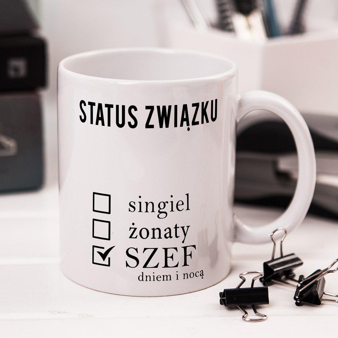 Zdjęcie slidera - KUBEK prezent Status Szefa personalizowany