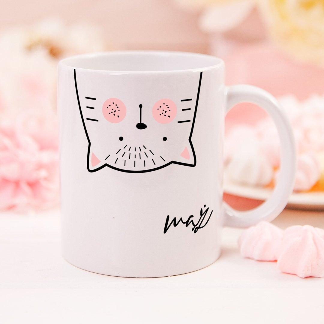 Zdjęcie slidera - KUBEK z kotem dla męża Zakochany Kocur personalizowany