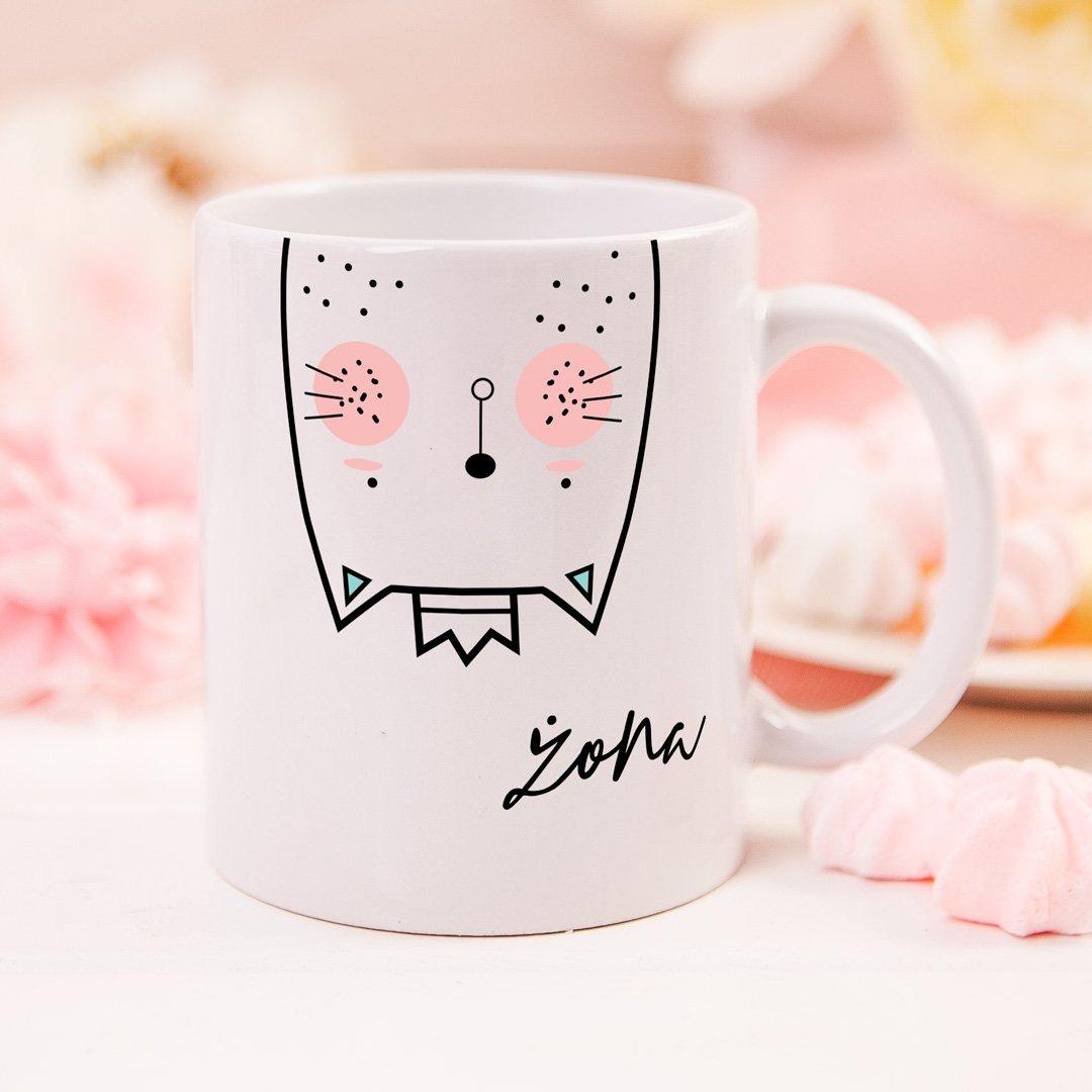 Zdjęcie slidera - KUBEK z kotkiem dla żony Zakochana Kotka personalizowany
