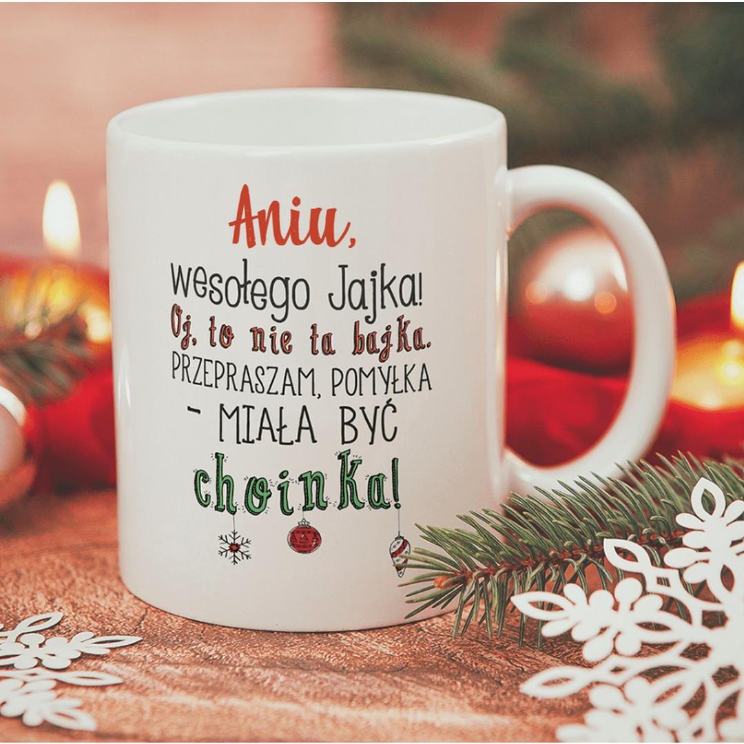 Zdjęcie w galerii - KUBEK prezent świąteczny Zabawne Życzenia personalizowany
