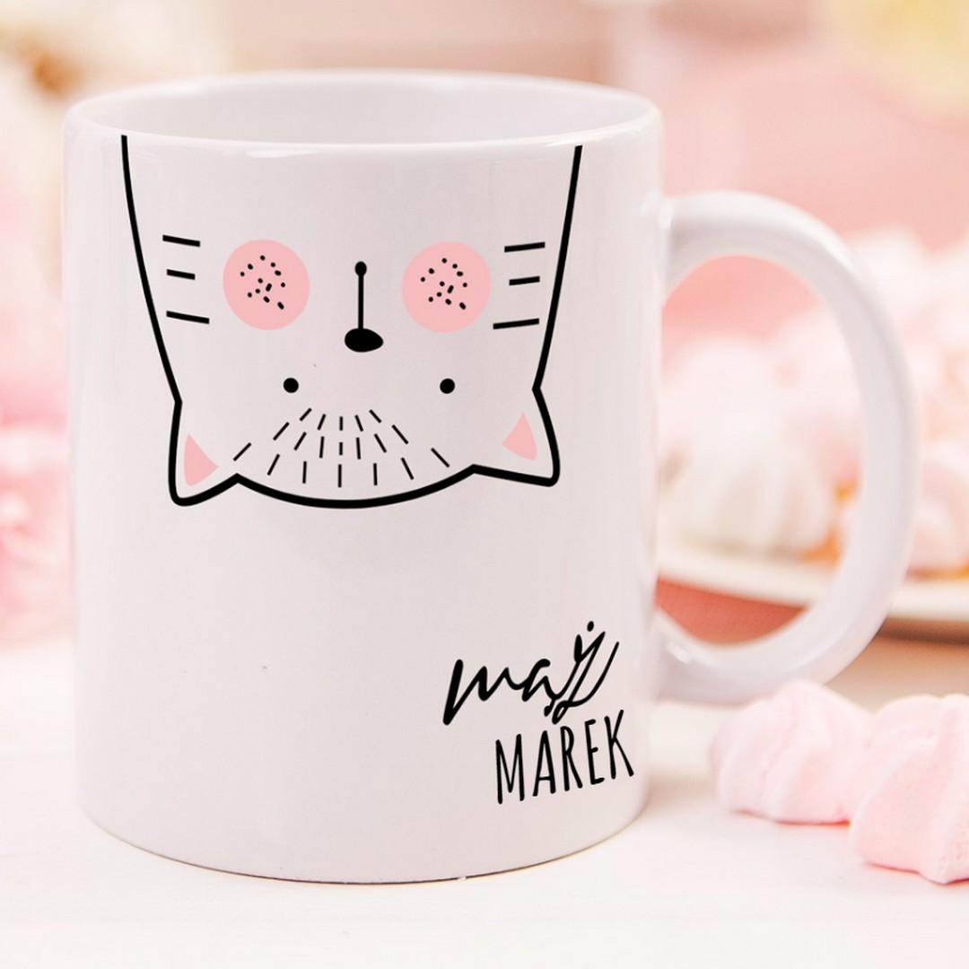 Zdjęcie w galerii - KUBEK z kotem dla męża Zakochany Kocur personalizowany