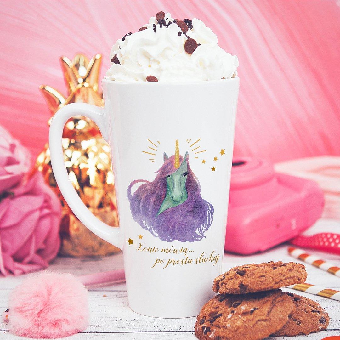 Zdjęcie w galerii - KUBEK do latte/cappuccino Bajeczny Jednorożec