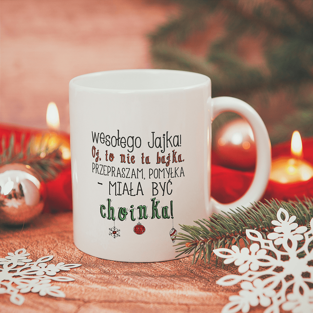 Zdjęcie slidera - KUBEK prezent świąteczny Zabawne Życzenia personalizowany