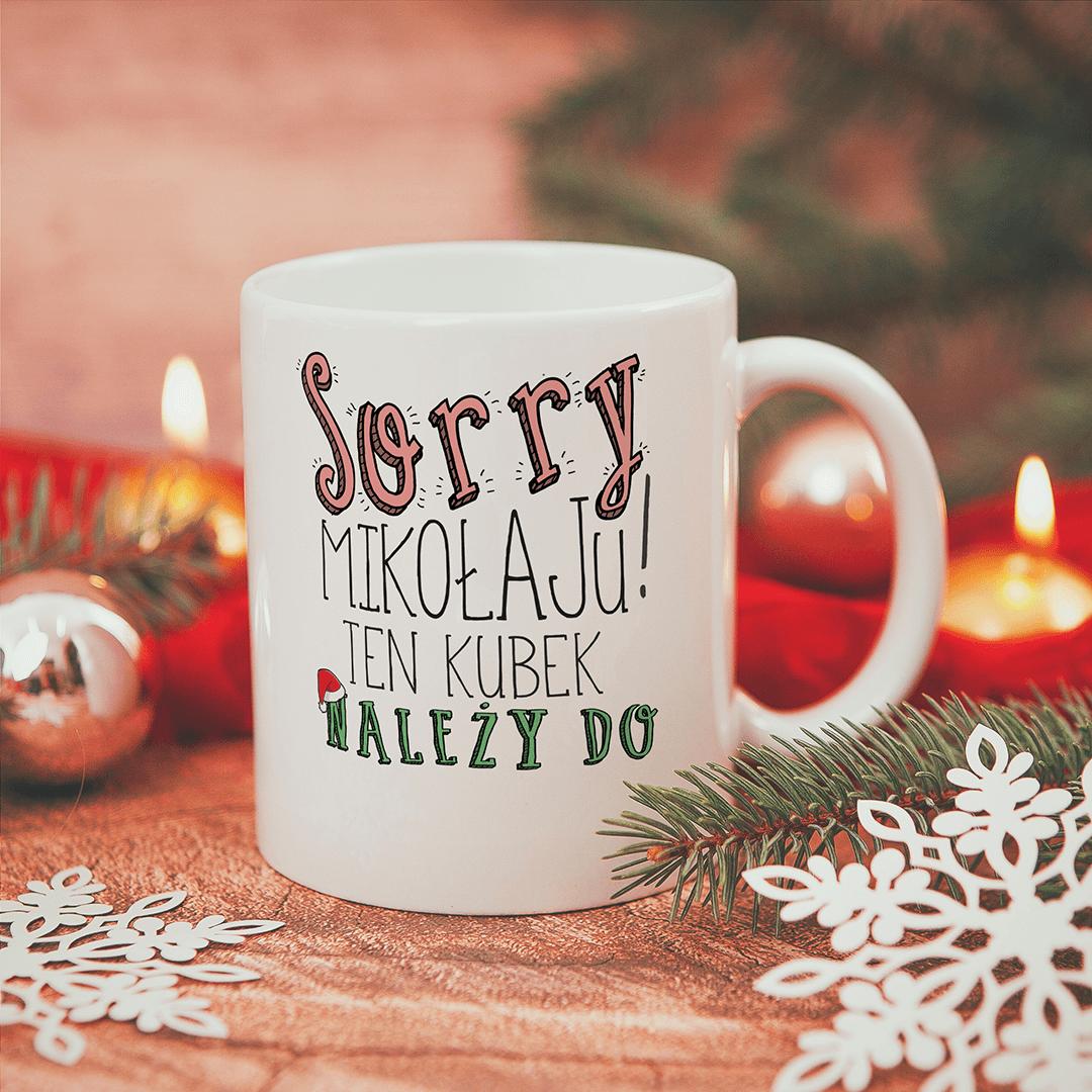 Zdjęcie slidera - KUBEK prezent świąteczny dla każdego Sorry Mikołaju personalizowany