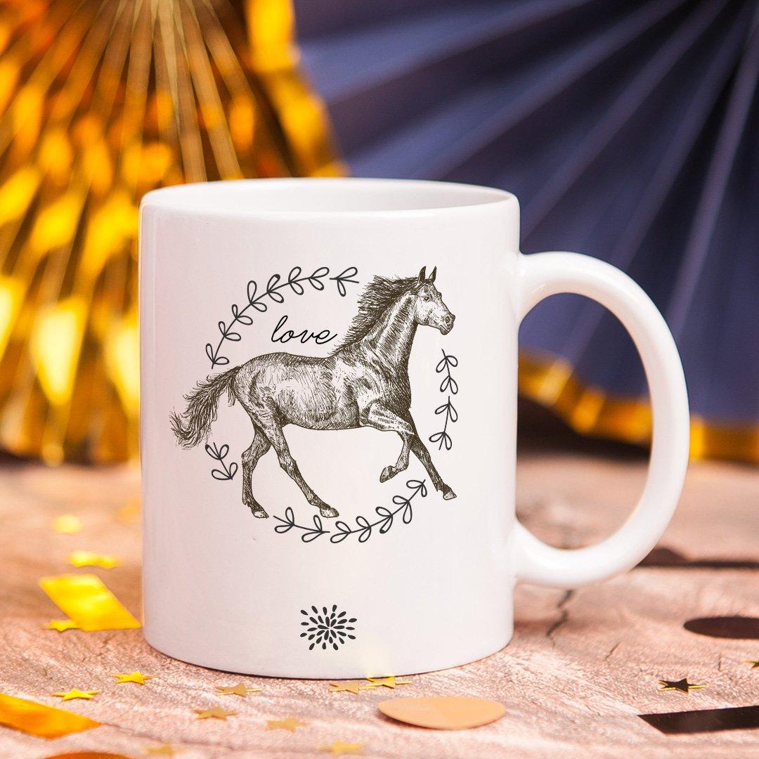 Zdjęcie slidera - KUBEK dla wielbiciela jazdy konnej Szkic z Koniem