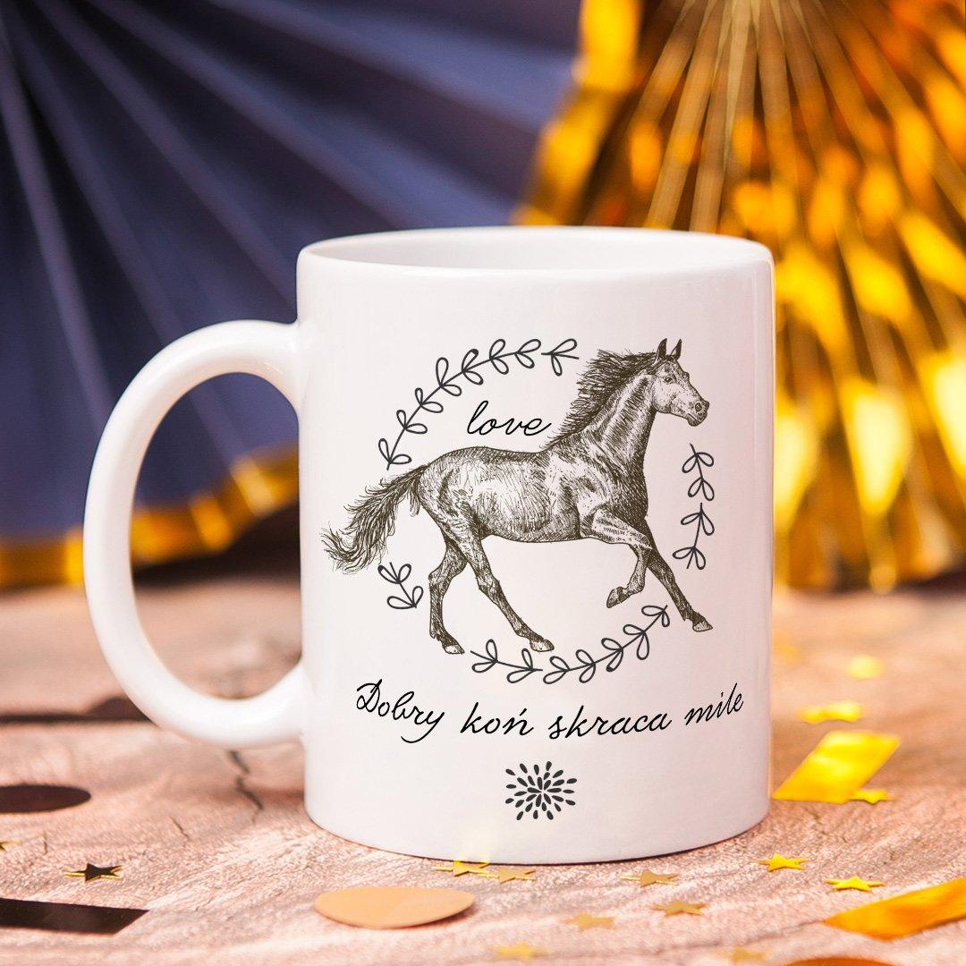 Zdjęcie w galerii - KUBEK dla wielbiciela jazdy konnej Szkic z Koniem