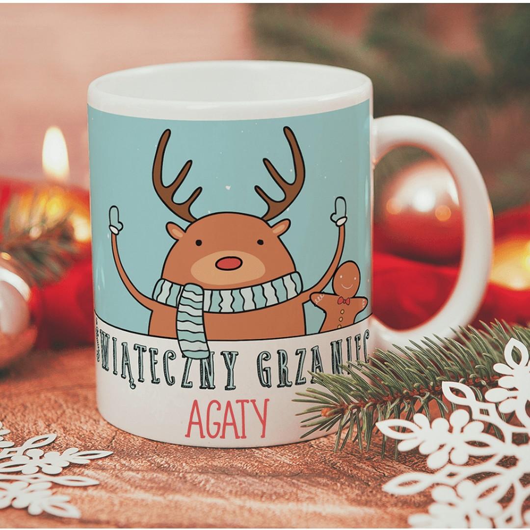 Zdjęcie w galerii - KUBEK prezent świąteczny Świąteczny Grzaniec personalizowany