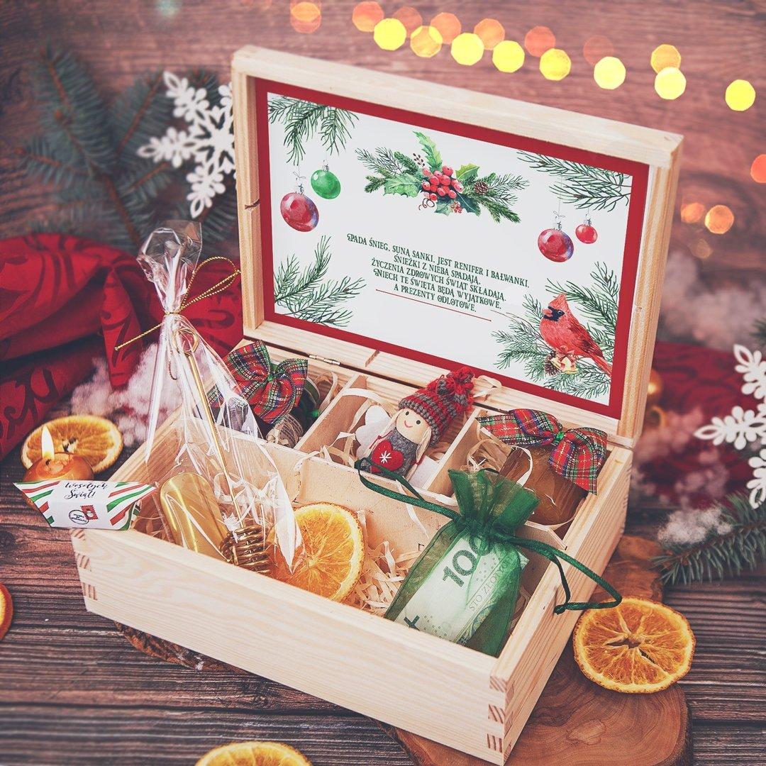 Zdjęcie w galerii - SKRZYNKA prezent świąteczny Zimowa Jarzębina