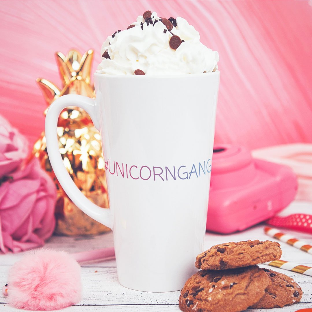 Zdjęcie w galerii - KUBEK duże latte/cappuccino Unicorn Gang