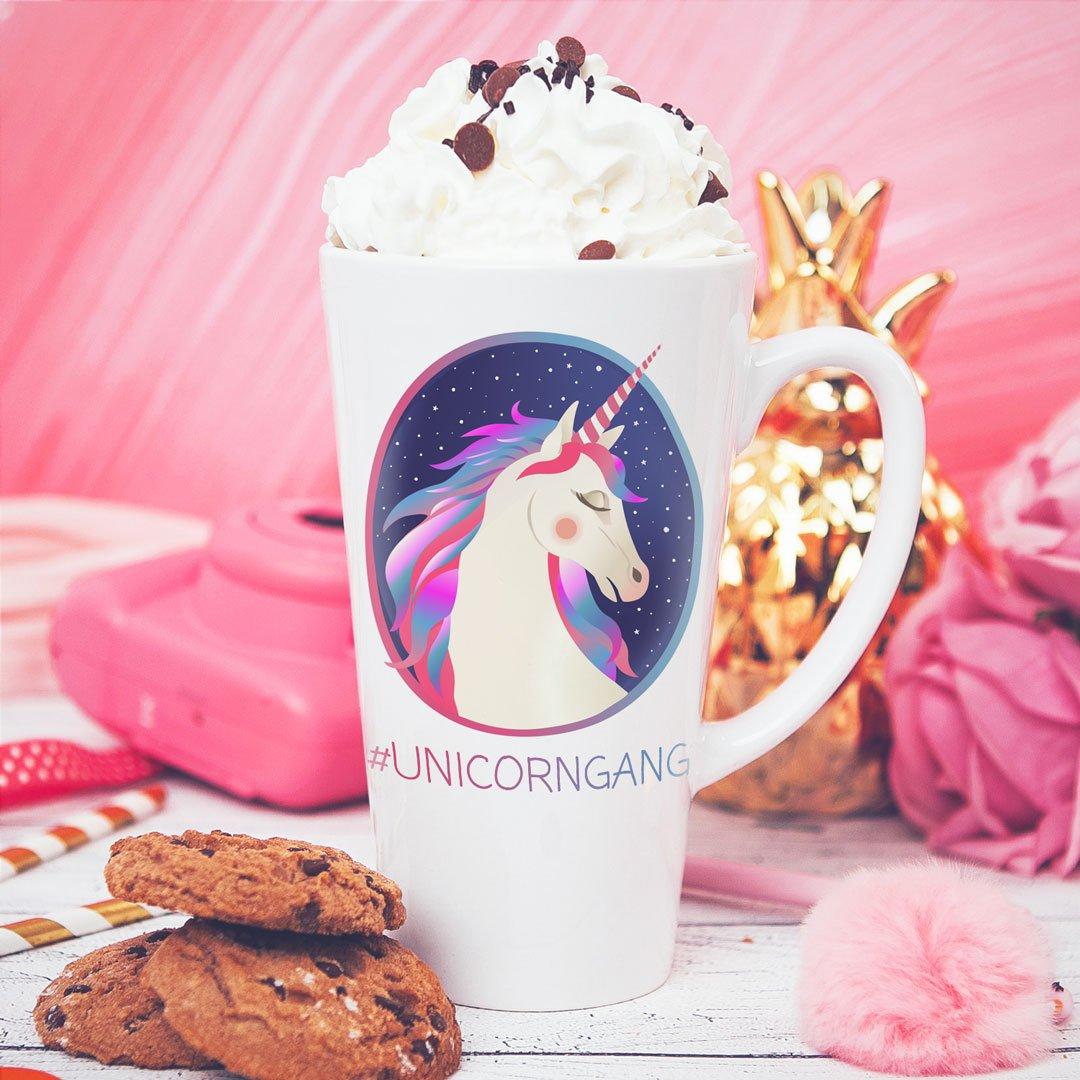 Zdjęcie slidera - KUBEK do latte/cappuccino Unicorn Gang