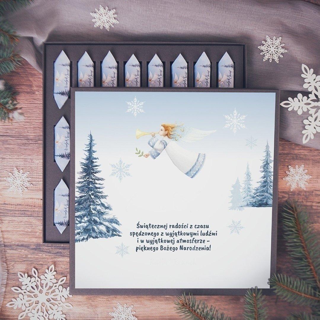 Zdjęcie slidera - BOMBONIERKA z krówkami świąteczna Srebrna Zima