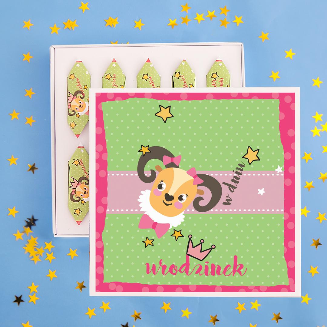 Zdjęcie slidera - Bombonierka z Okazji Urodzinek dla Dziewczynki Pani Owieczka