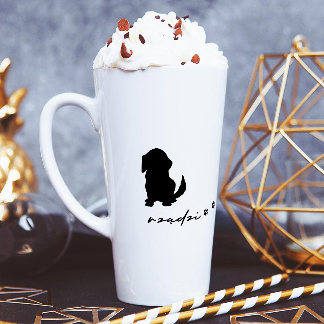 Zdjęcie slidera - KUBEK duże latte/cappuccino Pies Tu Rządzi