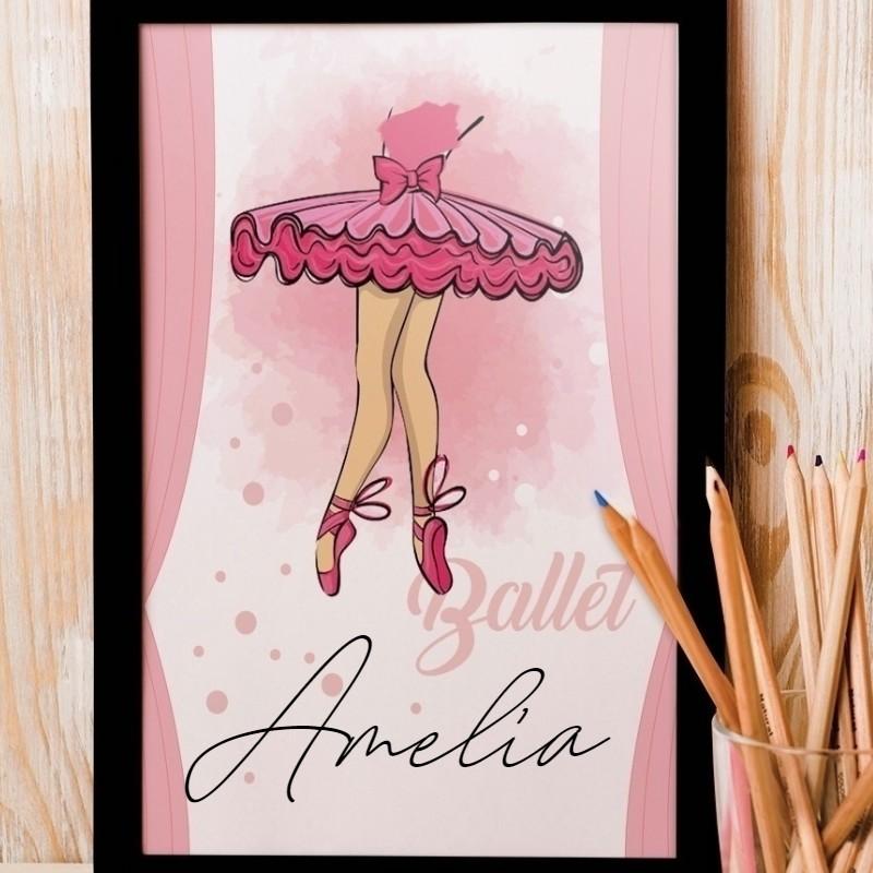 Zdjęcie w galerii - PLAKAT dekoracyjny Baletnica +RAMKA