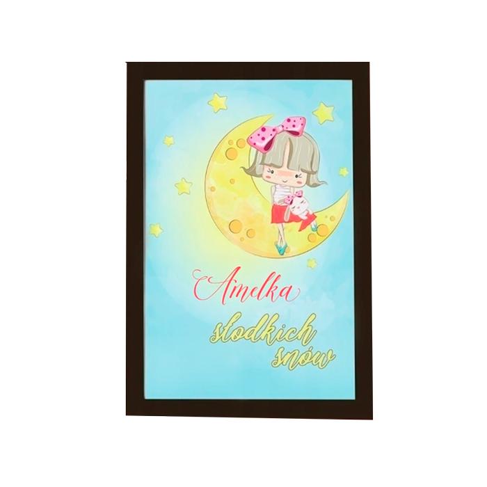 Zdjęcie w galerii - PLAKAT dekoracyjny DLA DZIEWCZYNKI Słodkich Snów +RAMKA