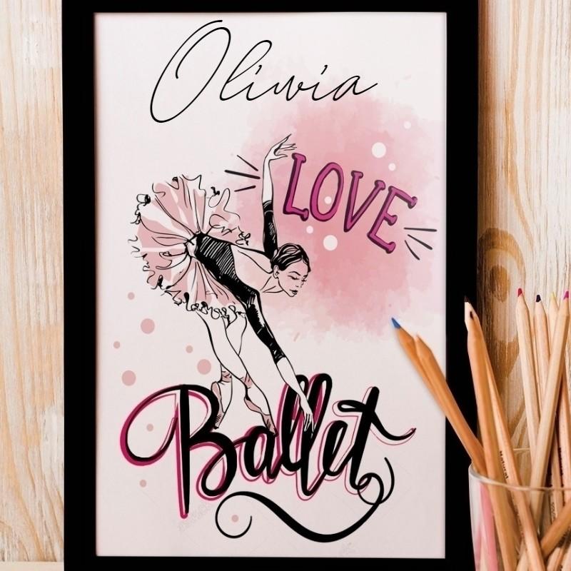 Zdjęcie w galerii - PLAKAT dekoracyjny Love Ballet +RAMKA