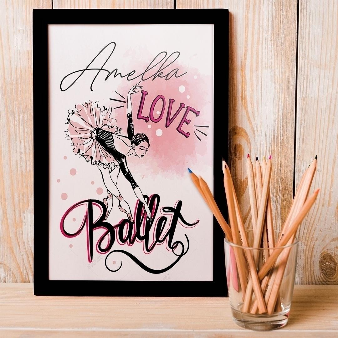 Zdjęcie posta - Dekoracja sypialni dziewczynki – piękny plakat z baletnicą