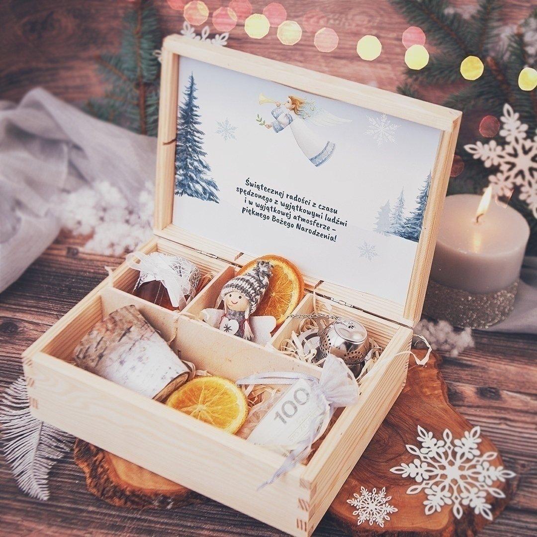 Zdjęcie slidera - SKRZYNKA prezent świąteczny Srebrna Zima