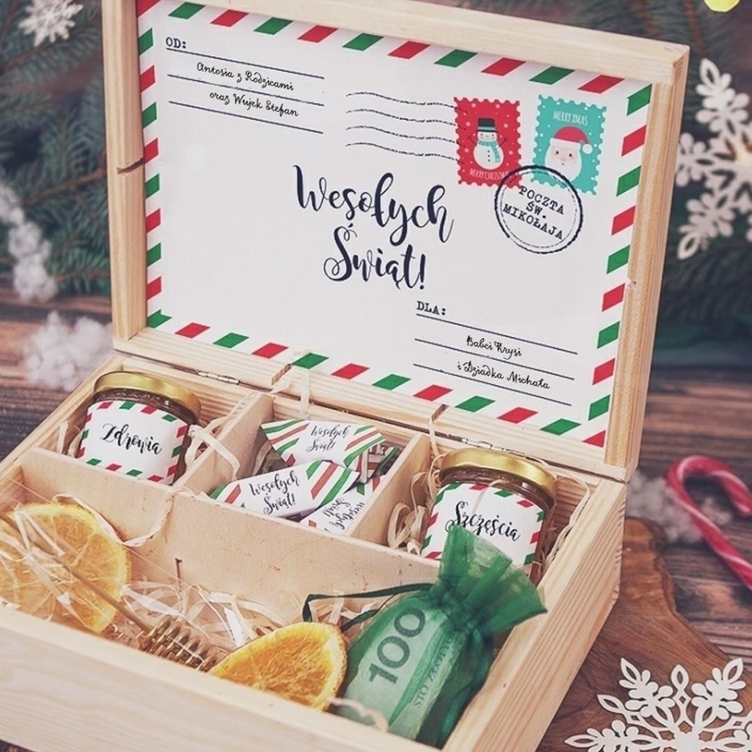 Zdjęcie w galerii - SKRZYNKA prezent świąteczny