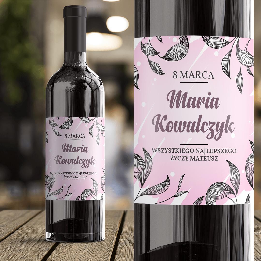 Zdjęcie w galerii - ETYKIETA na wino prezent na Dzień Kobiet