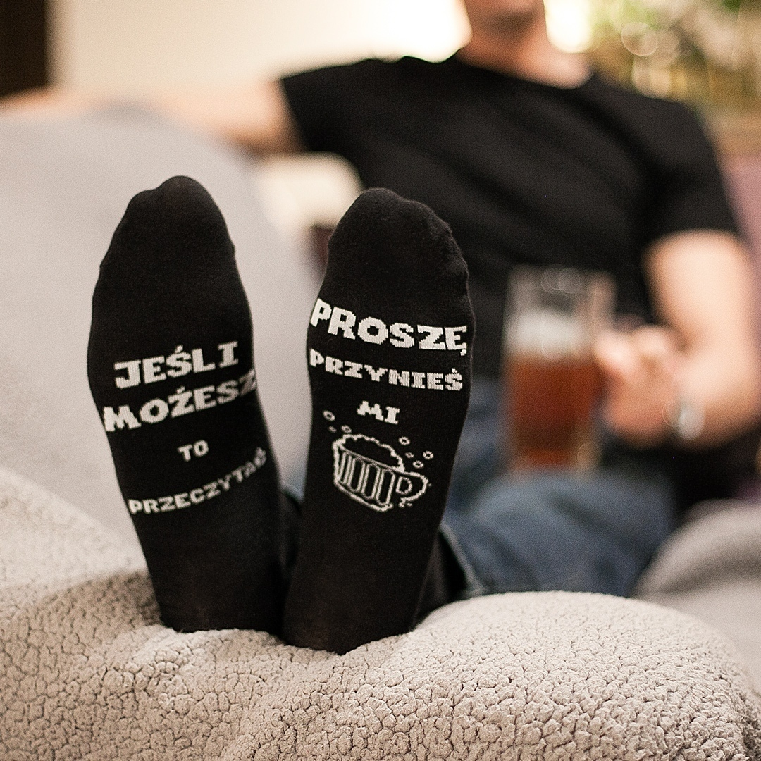 Zdjęcie slidera - SKARPETKI męskie na prezent Przynieś mi Piwo