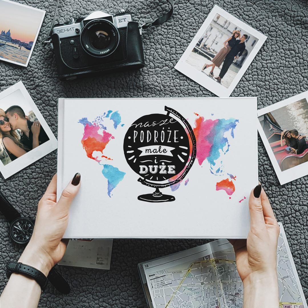 Zdjęcie slidera - ALBUM do wklejania zdjęć Nasze Podróże z Imionami Prezent na Walentynki +PISAK
