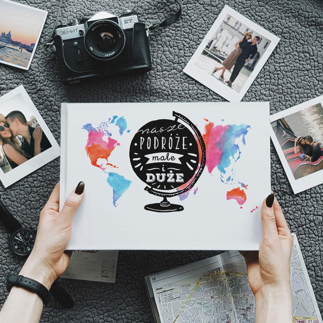 Zdjęcie slidera - ALBUM do wklejania zdjęć Nasze Podróże z Imionami Prezent na Walentynki