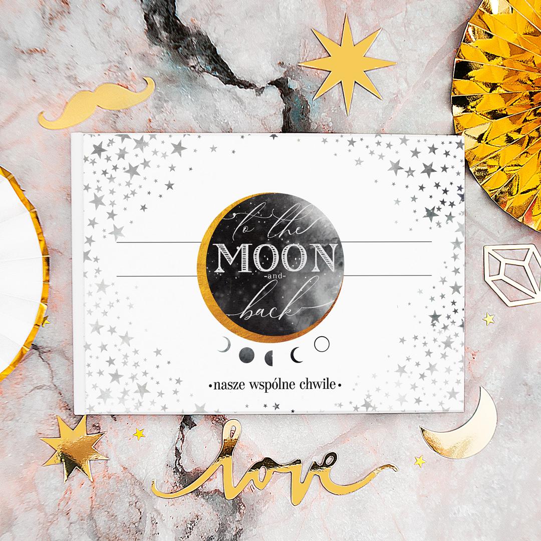 Zdjęcie slidera - ALBUM do wklejania zdjęć To the Moon and Back z Imionami
