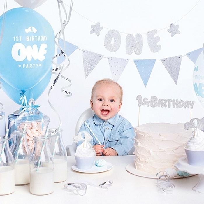 Zdjęcie w galerii - ZESTAW dekoracji na roczek dla chłopca BLUE