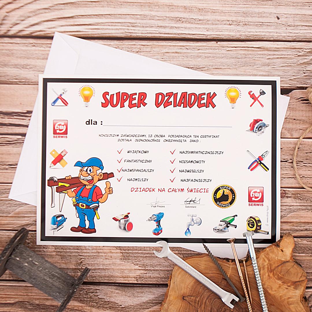 Zdjęcie slidera - CERTYFIKAT prezent dla Dziadka Super Dziadek