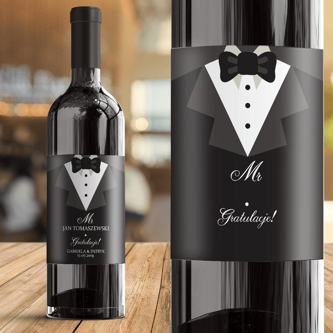 Zdjęcie slidera - ETYKIETA na Wino Prezent Ślubny Dla Pana Młodego