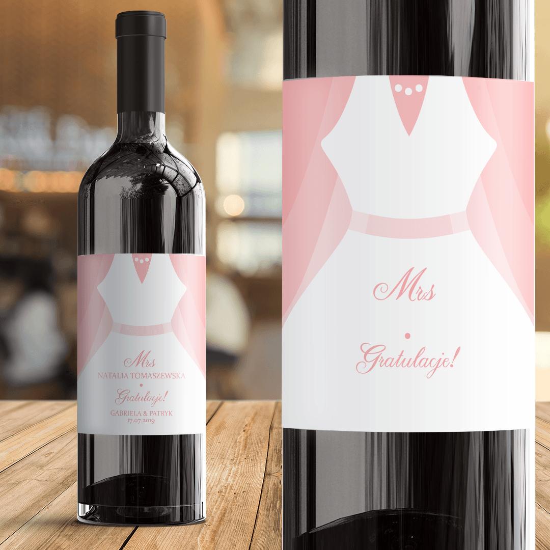 Zdjęcie slidera - ETYKIETA na Wino Prezent Ślubny Dla Panny Młodej