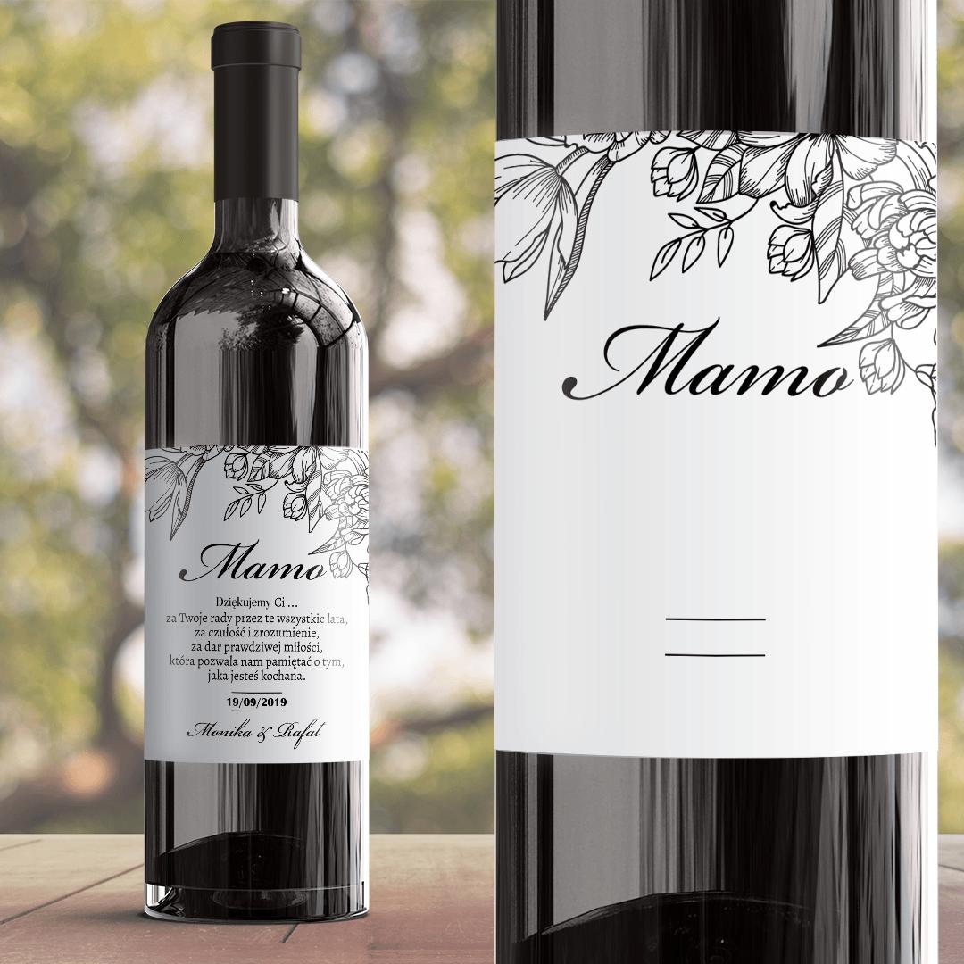 Zdjęcie slidera - ETYKIETA na wino prezent dla Mamy Piękno Kwiatu