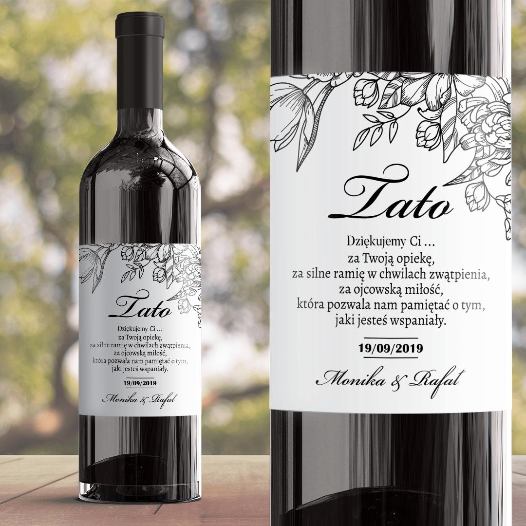 Zdjęcie w galerii - ETYKIETA na wino prezent dla Taty Piękno Kwiatu