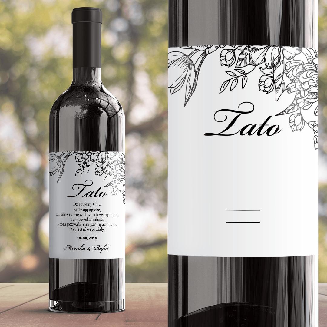 Zdjęcie slidera - ETYKIETA na wino prezent dla Taty Piękno Kwiatu