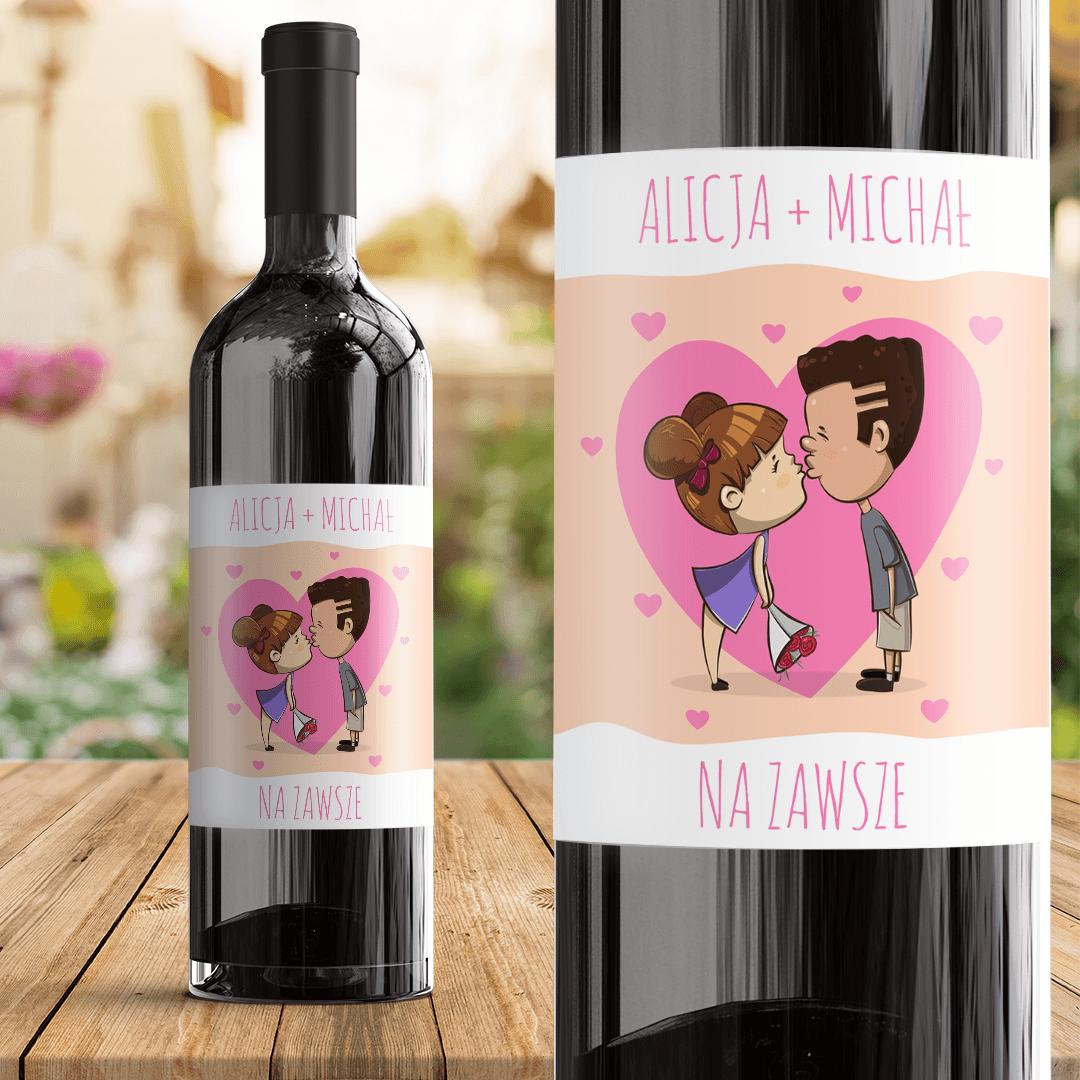 Zdjęcie w galerii - ETYKIETA na Wino Dla Ukochanej Osoby
