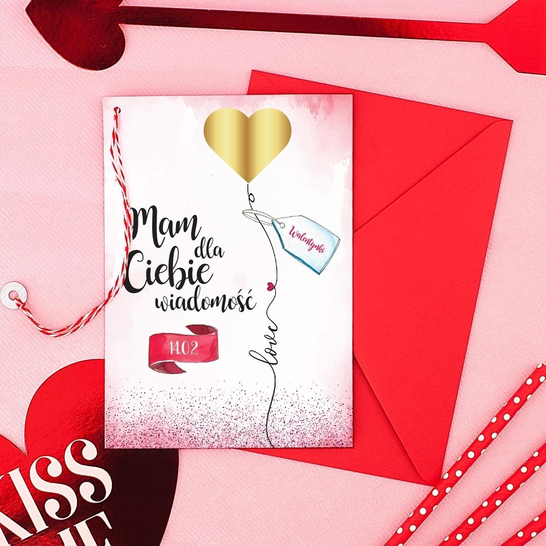 Zdjęcie w galerii - ZDRAPKA prezent na Walentynki Mam Wiadomość Love