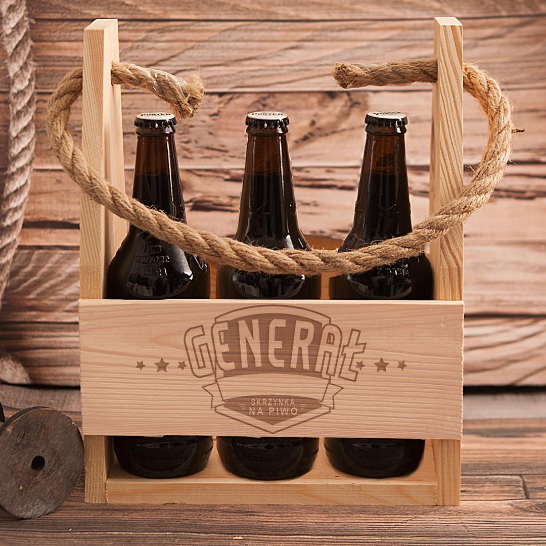 Zdjęcie slidera - NOSIDŁO na 6 piw Generał Prezent Urodzinowy z Grawerem