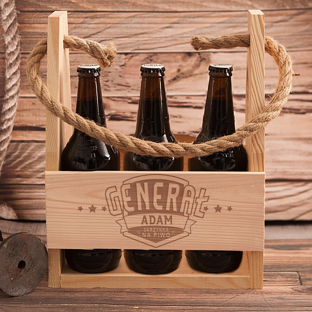 Zdjęcie w galerii - NOSIDŁO na 6 piw Generał Prezent Urodzinowy z Grawerem