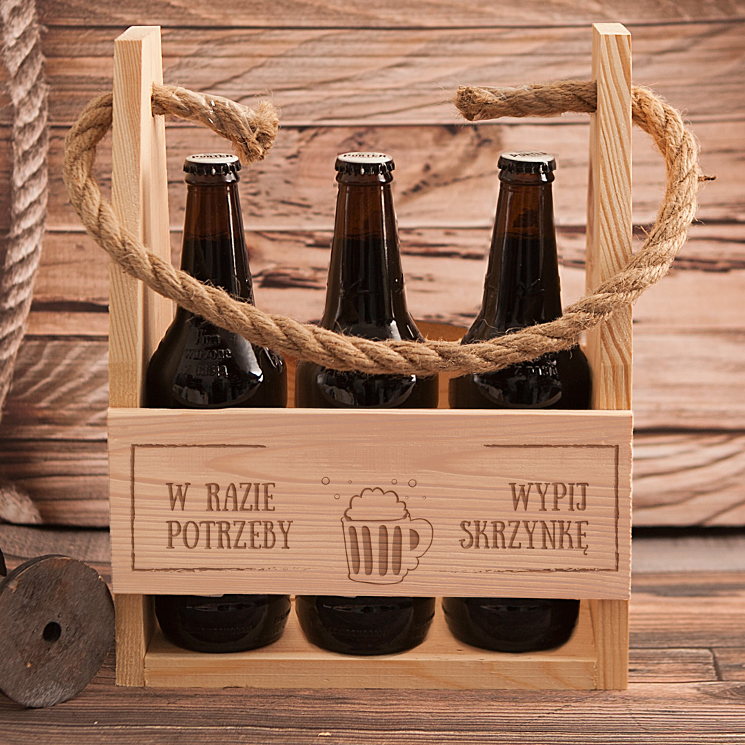 Zdjęcie slidera - NOSIDŁO na 6 piw W razie Potrzeby z Grawerem Prezent Urodzinowy